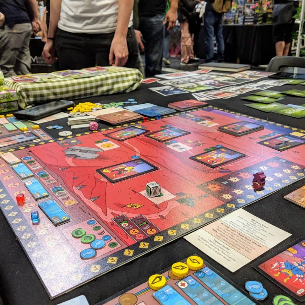 Prototype of Arkosa a sci-fi board game