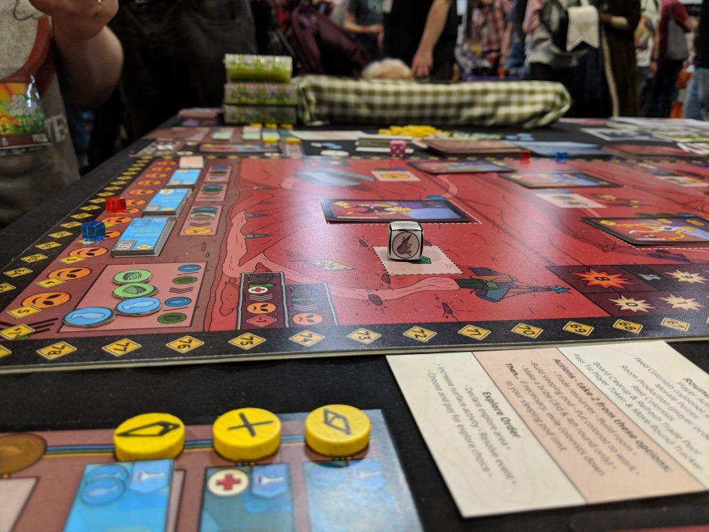 Arkosa a sci-fi board game, prototype version